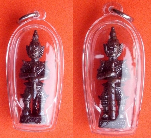 Taw Waes Suwan Song Hnaa (two faced Waes Suwann with Deva and Yaksa face) Luang Por Goy - Wat Khao Din Dtai - waterproof casing included