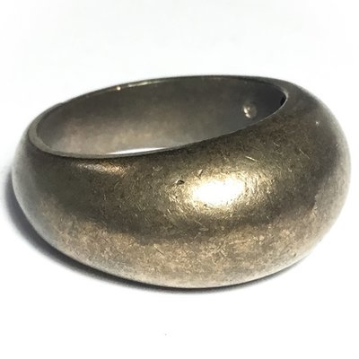 Hwaen Block Meed Maha Waet Khao Or Nuea Nava Loha 2.2 Cm Magic Sorceror Ring with Pra Pid Ta - Por Tan Kloi 2554 BE