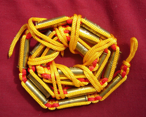 Takrut Look Pern Gan Pay 16 Look (16 Bullet takrut belt) - Run Ruay Ngern Ruay Tong (rich in silver and gold edition) Kong Grapan + Choke Lap - Luang Por Rit (Wat Chonlapratan) 2547