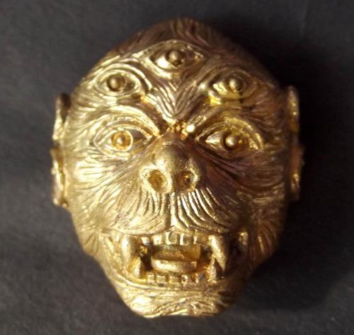 Taep See Hoo Ha Ta (Pra Intr Plaeng Roop) - four ears five eyes 'Transformation of Indra' Deity - Nuea Chanuan ud Pong Wan 108 +Takrut (108 powders, coal cinders and Takrut) - Ajarn Meng Khunphaen