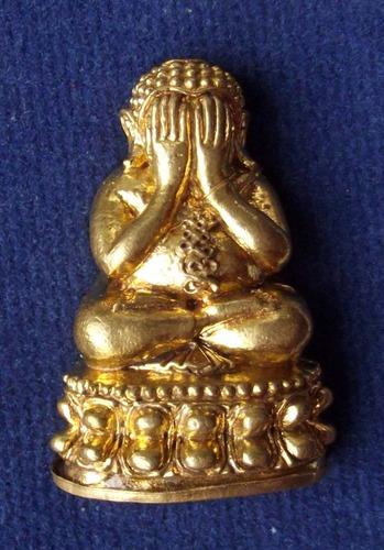 Pra Pid Ta Nuea Samrit Boran (Ancient Brazen Artifact Metal) - Hum Gon Samrit - 'Run Maha Lap Maha Sethee 2555 BE - Luang Phu Kambu - Wat Gut Chompoo