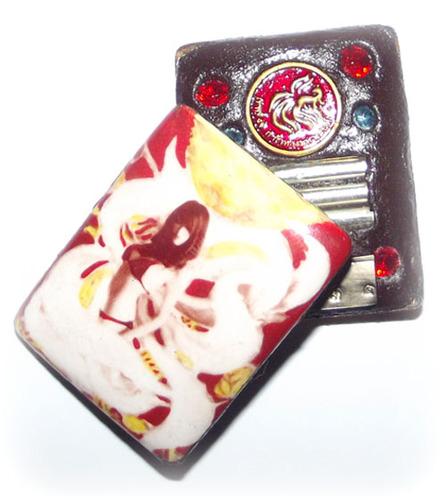 9 Tails Fox Demoness Enchantress Locket (Pim Lek) - Sacred Powders, 3 Takrut, 6 Gems, 1 Jing Jork 9 Hang coin inserted 'Bantian Mian Jia' 2555 BE 2nd Edition - Luang Phu In Wat - Nong Meg