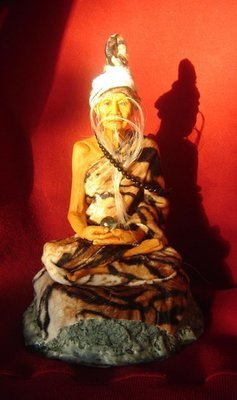 Pra Ruesi (Por Gae)  Boroma Kroo 12 inch high Bucha Statue - Wat Ratcha Nad Da/Asrom Por Taw Guwen  (resin)- free shipping