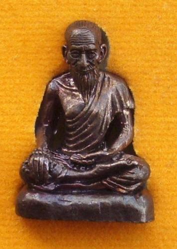 Ruesi Boroma Kroo Chiwok Gomarapaj (Jivaka) Healing Amulet Blessed by Luang Por Jaran (Wat Ampawa) - Nuea Tong Daeng Rom Dam - Hmor Som Hmay Tong Prasert (Doctor Som Hmay) - with or without case