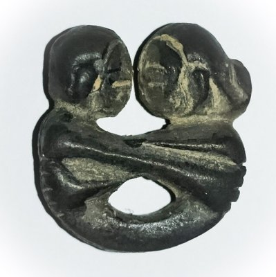 In Koo Plord Rak Binding Love Spell Amulet - Sukh Nirandr Edition -  Black Prai Powders - Luang Por Prohm Wat Ban Suan