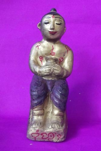 Kumarn Tong Nang Gao Ee (Hilltribe Kumarn sitting on chair) 8 Inches high - Nuea Pong Khee Tao Dek - Bone Powders and Sacred Earths - Luang Por Kane - Wat Koh Phu