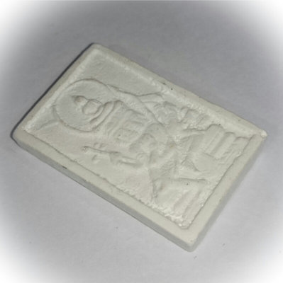 Pra Prohm See Gorn Pim Lek (small) 2522 BE +  4 Faced Brahma Amulet in Snow White Puttakun Powders - Luang Phu Doo - Wat Sakae