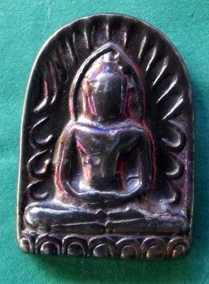 Pra Sum Gor (Benjapakee amulet) - Nuea Lek Lai Nam Neung See Peek Malaeng Tap (Buddha in Meditation made from pure Lek Lai) - Luang Por Hone (Huan) - Wat Putai Sawan