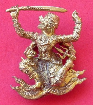 Hanuman  Hern Fa (four armed flying Hanuman) - Nuea Sangkh Wanorn (Niyom) - Luang Phu Ka Long (Wat Khao Laem) - Ultra Rare