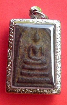 Pra Somdej Pim Lek (Niyom) 2519 BE - Nuea Dam Prasat Khom - Luang Phu Suang - Tewada Len Din (500 year old monk)