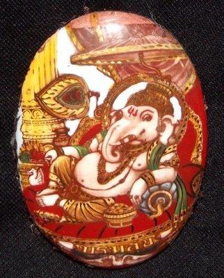 Locket Pra Pikanes Boroma Sukh Pim Jumbo (Ongk Kroo) - 'Run Boroma Sukh' Edition with Sivali Arahant Relics 2 Takrut and Gemstones - Luang Por Pramote - Wat Khao Changum 2553 BE - Only 59 Made