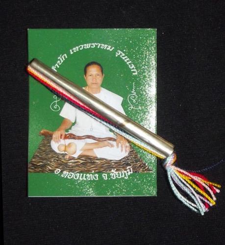 Takrut Sao Ha Serm Duang - Thai Buddhist Takrut Amulet - Safety, Improve Karma, Fate and Wealth - Ajarn Tong Teng 2553 BE