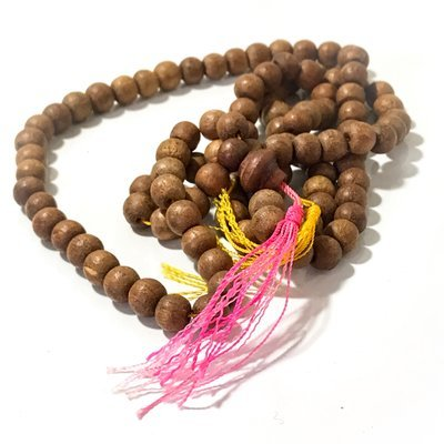 Prakam Saksit Nuea Mai Mongkol Sacred Wood Bead Rosary - Luang Por Uttama
