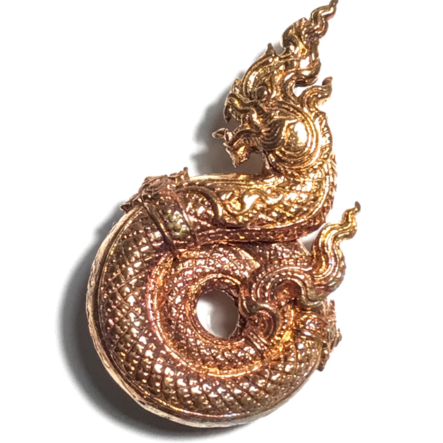 Buang Nakabat Muan Hang - Naga Sling to Catch Wealth and Treasures - Nuea Tong Daeng   - Luang Por Raks Wat Sutawat Vipassana