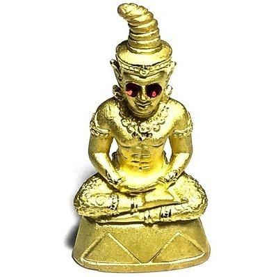 Pra Ngang Jao Sanaeh Ongk Kroo Nuea Loha Aathan Ta Tong Sacred Powders in Base 1 Takrut 3 Gems Only 499 Made Taep Noi Roi Lan Centenary Edition - Kroo Ba Or