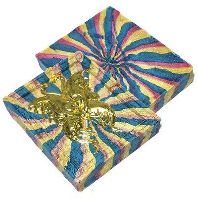 Taep Jamlaeng Sai Rung Ongk Kroo Som Prathana Edition 2555 BE - King Butterfly Rainbow Powders, Lek Lai Kring Insert - Kroo Ba Krissana