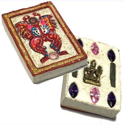 Taep Jamlaeng Pamorn Pim Jiw 8 Gems 2 Takrut & Brahma Statuette Wai Kroo 2556 - Kroo Ba Krissana