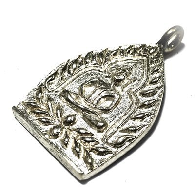 Rian Jao Sua Sethee Yai Niyom 2556 BE Ongk Kroo Millionaire Amulet No.66 of 99 Made - Solid Silver Hand Inscription Luang Por Jerd