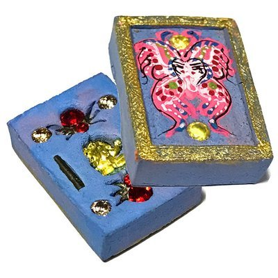 Taep Jamlaeng Pamorn Pim Jiw 8 Gems 2 Takrut & Ganesha Statuette Songkran Edition 2556 - Kroo Ba Krissana