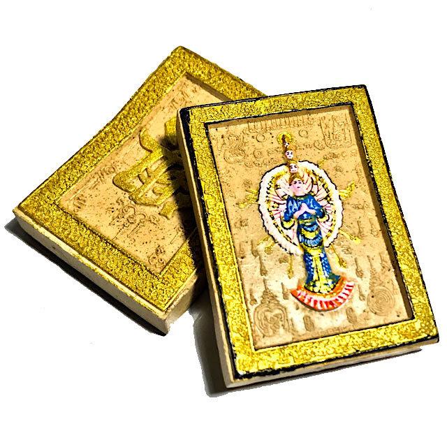 Pra Potisadtw Mae Guan Im Pan Mer 2553 BE Blue Robes 1000 Arms Kwan Yin Bodhisattva - Kroo Ba Krissana Only 300 Made
