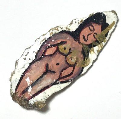 Chin Aathan Ban Neng Mae Nang Prai Kote Hian Khmer Ghost Bone Carving 4.5 Cm - Ajarn Surak Khmer Necromancer