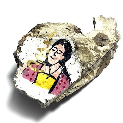 Chin Aathan Mae Nang Prai Dtua Kroo Khmer Ghost Bone 6 x 4 x 3 Cm Prai Powders Yae Hyae Wood Pha Sop 5 Ploi Sek - Ajarn Surak Khmer Necromancer