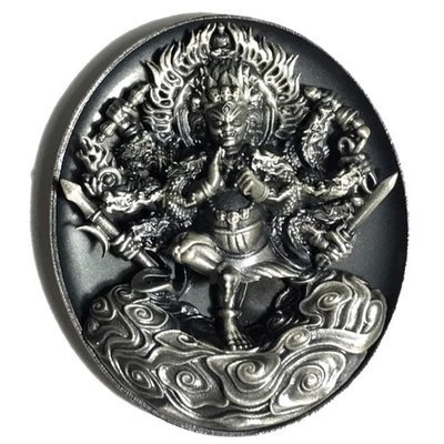 Pra Tanabodee Maha Sethee Champol Nuea Ngern Rom Dam Solid Silver Vajrayana Deity Blessed at Borobudur Only 200 Made