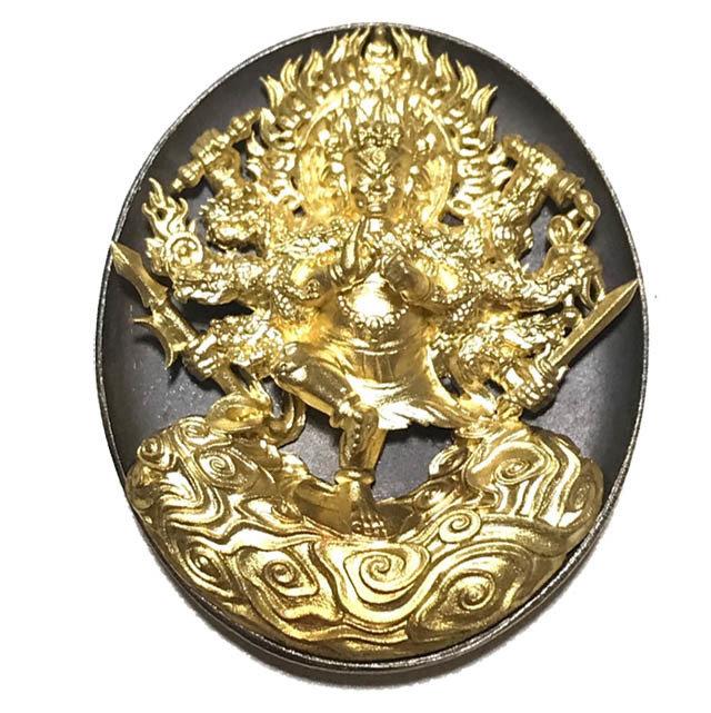 Rian Tanabodee Maha Sethee Champol - Nuea Bronze Pragay Tong Vajrayana Wealth Deity Blessed at Borobudur Indonesia