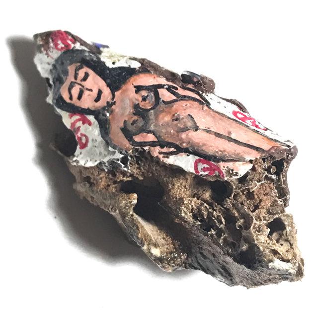 Chin Aathan Mae Nang Prai Dtua Kroo Khmer Ghost Bone 6 x 3 x 2 Cm Prai Powders Yae Hyae Wood Corpse Cloth 5 Gems - Ajarn Surak Khmer Necromancer