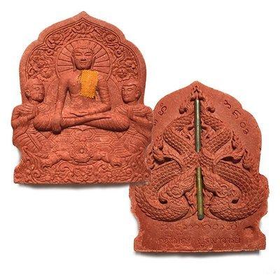 Pra Putta Metta Buddha Maudgalyayana Saributra Nuea Wan Sabu Luead 2 Takrut Civara Robe Kroo Ba Gaet Wat Ban Bpong