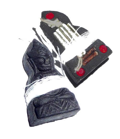 Pra Ngang Maha Sanaeh Ongk Kroo Pim B - 3 Gems, 9 Takrut + Sinjana Cords - Montr Paetch Payatorn Jantr Sorn Jantr Edition - Luang Phu In 2556 BE