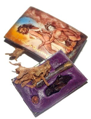 Locket Suea Phu Chay (Lady Tiger Maneater) Pim B 'Bucha Kroo 2555'  - Sacred Powders, Takrut, Look Namo, Holy Wood, Takrut and Dork Tong Herb - Pra Ajarn Oe Putto Raksa