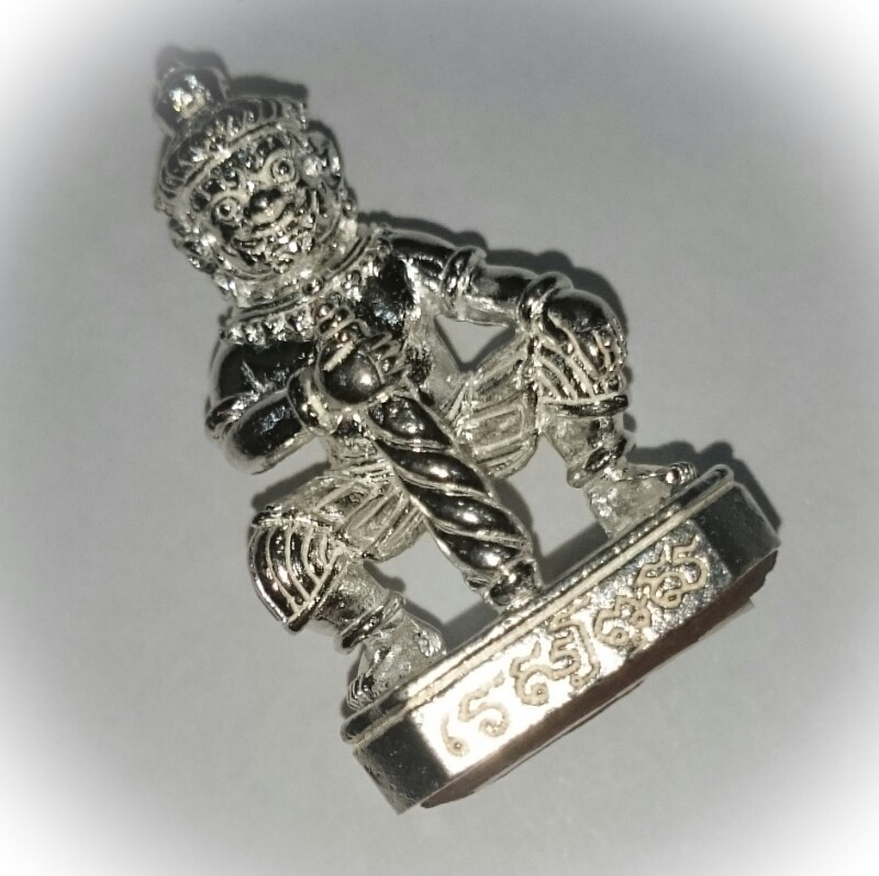 Taw Waes Suwan Asura Deva Ongk Kroo - Solid Silver - Only 19 Made! - Sacred Dork Tong Powders + Solid Silver Takrut Sariga - Ta Poon (Forest Lay Sorceror)