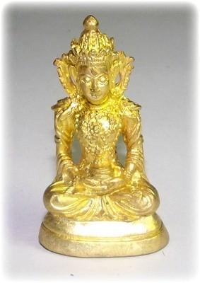 Pra Kring Tan Jai Jet Kampir - Nuea Tong Ma Lor (Sacred Brass, Puttakun Powders + Sacred Relic) - 'Sang Hor Chan Edition' 2555 BE - Kroo Ba Lerd Wat Tung Man Dtai