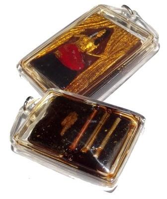 Nang Prai Mae Niyom Deva 'Ongk Kroo' - Hoeng Prai Powders, 3 Takrut in Prai Oil + Bone + Holy Wood - Ajarn Wirataep Yan Kroo Prasit