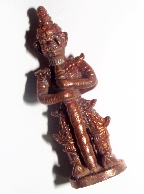 Taw Waes Suwan Maha Bpraab Loi Ongk 5 x 1.5 Cm Statuette (only 400 made) - Nuea Nava Loha 'Serp Dtamnan Luang Phu Noi' Edition 2555 BE - Luang Por Jerd - Suan Badibat Tam Po Sethee
