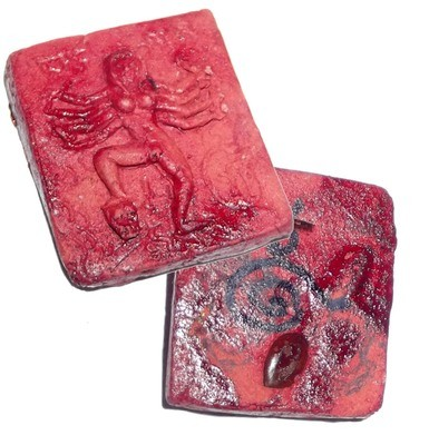 Mae Yua Mueang (Tantric Kali Maha Amnaj/Maha Sanaeh amulet) - 99 Ghost Red Prai Powders + Ban Neng Bone + Dancing Deva Gem + Takrut - Hand Inscription - Gambling and Love Charm - Ruesi Masia 2554 BE