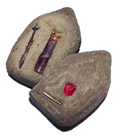 Por Khun Paen Maha Sanaeh 16 Nang Faa 15 Nang Prai - 16 Fairies 15 Ghosts Necromantic amulet - Takrut, Coffin Nail, Ploi Sek, Nam Man Prai Oil - Ajarn Apichai Decha