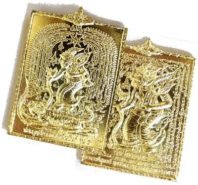 Por Phu Narot Hmeun Yant Hlang Phu Ruesi Galasit Dern Dong - 2 Sided Ruesi Hermit Gods Amulet - Ajarn Supot Na Lercha - Wai Kroo 2555 BE Edition
