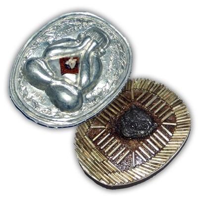 Pra Pid Ta Pokasap Nuea Rae Lek Lai Ongk Kroo with 129 Takrut, Gemstone, Relics, and Tiger Amulet by Luang Por Supoj - 199 Made