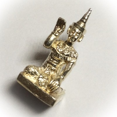 1st Edition Nang Kwak Manorah Ongk Kroo - Southern Sorcery Wicha - Solid Silver - Pra Ajarn Prasut - Wai Kroo 2544 BE Only 180 Made