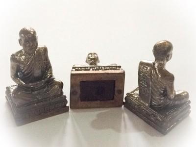 Pra Kring Ud Pong Sariga Dong- Kroo Ba Krissana Bucha Statuette Neua Nava Loha- Gae Ngern Tong Sacred Sariga Dong, Taewa Nakrii Powders, Individually Stamped Sae Yid 60 Edition