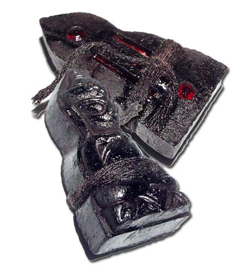 Pra Ngang Maha Sanaeh Ongk Kroo Pim C - 2 Gems, 3 Takrut, Prai Oil sprayed + Sinjana Cords - Montr Paetch Payatorn Jantr Sorn Jantr Edition - Luang Phu In 2556 BE