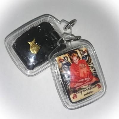 Locket Wai Kroo 'Ruay Pan Lan' Edition - Luang Por Phern Tidtakuno - Made with Muan Sarn empowered by Luang Por Phern himself