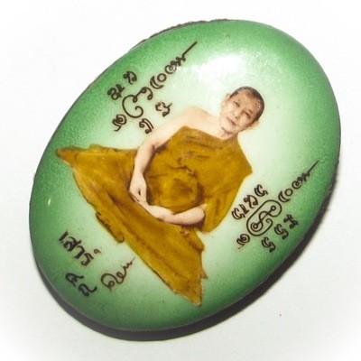 Locket Luang Por Jerd Pim Jumbo Ongk Kroo #48 - Sao Ha Edition 2553 BE - 56 Takrut Pra Puttakun + Ganesha + 8 Ploi Sek Gems In Ya Wasana Jinda Manee Powders - Luang Por Jerd Nimmalo