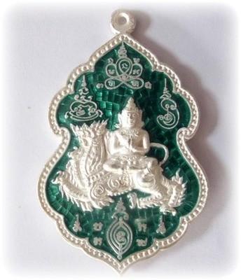 Rian Taewada Nang Singh - Deva on Rachasri Himapant Lion King - Solid Silver with Rachawadee Enamels - 70 years Anniversary Edition - LP Sakorn Wat Nong Grub 2551 BE