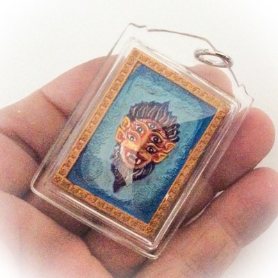 Taep See Hoo Ha Dta (Pim Klang) - 4 Ears 5 Eyed Transformation of Indra Amulet - 4 Takrut 4 Money Spiders + Rahu God - Kroo Ba Krissana Intawano Sae Yid 60 Edition