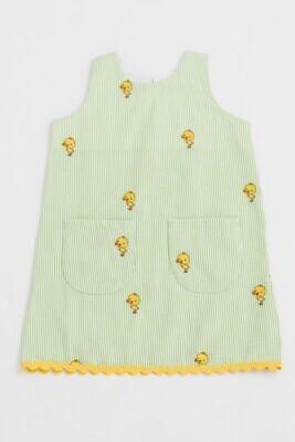 Ack Seersucker Summer Ric-rac Dress