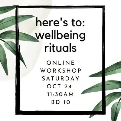 Wellbeing Rituals Workshop
