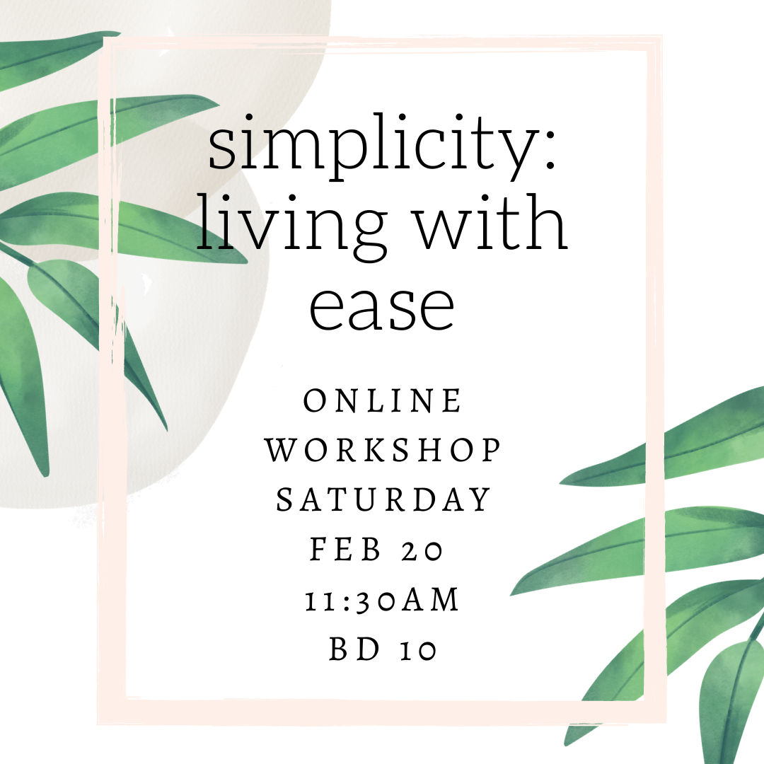 Simplicity: Living with Ease